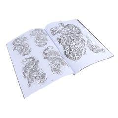 Oriental Body Art Tattoo Flash Dragon Reference Pattern Manuscripts Book