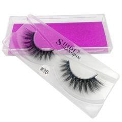 1 Pair 3D Eyelashes Extension Fibre False Eye Lashes Makeup Long Natural #36