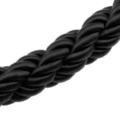 Twisted Barrier Rope Queue Nylon for Posts Stands Exhibition Crowd 10ft Black