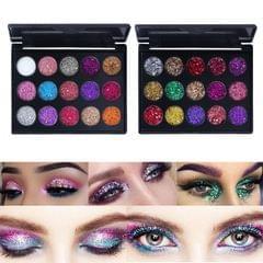 15 Color Eyeshadow Makeup Glitter Sparkle Powder Eye Shadow Palette 01 Color