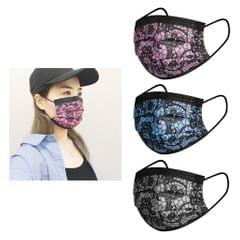10x Floral Lace Disposable Face Masks 3-Layer Facial for Adult Men Women Use white