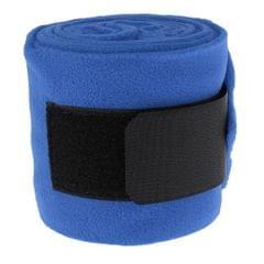 4pcs Soft Fleece Equestrian Leg Wraps Bandage for Horse Riding Racing Blue