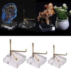 Display Stand with Acrylic Base for Mineral Agate Fossil Coral Softball Golf S