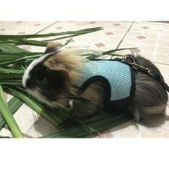 Hamster Rabbit Guinea Pig Rat Ferret Breathable Mesh Harness Leash Blue S