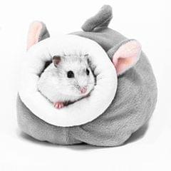 Winter Warm Rabbit Guinea Pig Hamster House Bed Cute Small Animals gray