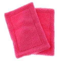 2 Pack Velvet Small Animals Warm Mat for Hamster, Guinea Pig, Ferret Rose Red