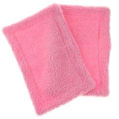2 Pack Velvet Small Animals Warm Mat for Hamster, Guinea Pig, Ferret Pink