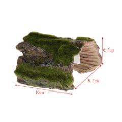 Resin Tree Bark Bends Reptile Terrarium Ornament Snake Lizard Hideouts