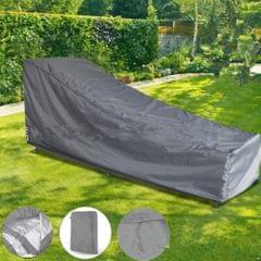 Waterproof Sun Lounge Chair Dust Cover Outdoor Garden Patio Furniture Grey