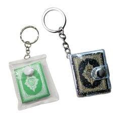 Small Ark Quran Real Paper Keychain Religious Key Holder Memorial Gift Black