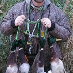 Hand Braided Paracord Hunting Duck Whistle Lanyard 65cm Khaki