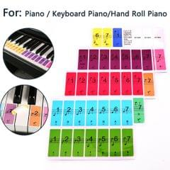 Removable Piano Note Keyboard Sticker for 88/61/51 Piano Key Keyboards