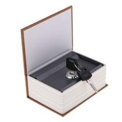 Dictionary Creative Imitation Book Safe Box Mini Piggy Bank Light Coffee