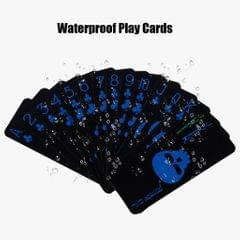 High Quality Plastic New Poker Size Playing Cards 1PC Mini Blue + Golden