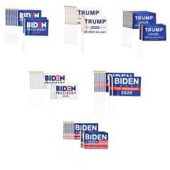 10Pcs Trump 2020 Re-Elect Small Hand Flag Keep America Great President Flag