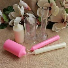 2Piece Spire Cylinder Shaped Plastic Clear Candle Molds Candle Making Crafts
