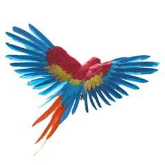 Artificial Bird Flying Parrot Wings Home Art Decor 15.7inch Red and Blue