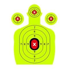 10x Adhesive Shooting Targets Reactive Splatter Paper Target Stickers Green