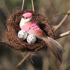 Handmade Vine Bird Nest House Home Nature Craft Sill Holiday Decoration 25cm