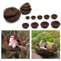 Handmade Vine Bird Nest House Home Nature Craft Sill Holiday Decoration 35cm