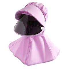 Sunproof Anti-splash Parent-child Face Protective Shield Hat Adult Purple