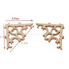 100 Pieces Hollow Wooden Embellishments Craft Unfinished Wooden Hanging DIY