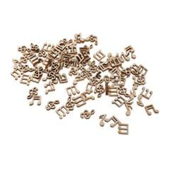 100 Pieces Unfinished Wooden Cutouts Handmade DIY Note Chips