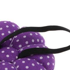 Pumpkin Wrist Wearable Needle Pin Cushion for DIY Sewing Crafts Purple