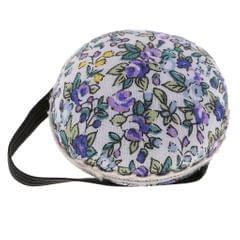 Ball Shape Needle Pin Cushion With Elastic Wrist Belt DIY Handcrafts Purple