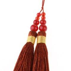 Handmade Silk Tassels Decor Pendant Key Chains Bag Accessories Blue