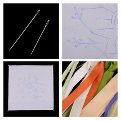 Ribbon Embroidery Kits DIY Flower Painting Kit Stamped Cross Stitch 04