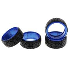 Double Liner Rubber Tires Shockproof Tyre Patterns for 1/10 HSP 94123 Blue