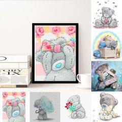 DIY 5D Bear Diamond Painting Embroidery Cross Crafts Stitch Bear Box