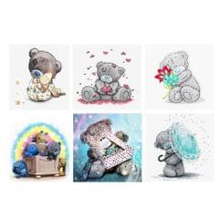 DIY 5D Bear Diamond Painting Embroidery Cross Crafts Stitch Bear Umbrella