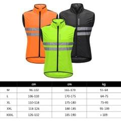 Polyester Sleeveless Cycling Vest Cycling Vest Windproof Jersey Green L