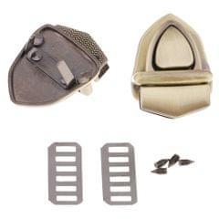 Bag Closure Catch Tuck Lock Clasp Fasteners for LeatherCraft Bronze Triangle