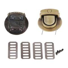 Bag Closure Catch Tuck Lock Clasp Fasteners for LeatherCraft Bronze Round