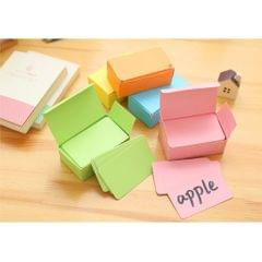 Paper Blank Index Flash Cards DIY Greeting Quick Message, 90 Sheets Green