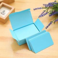 Paper Blank Index Flash Cards DIY Greeting Quick Message, 90 Sheets Blue