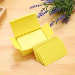 Paper Blank Index Flash Cards DIY Greeting Quick Message, 90 Sheets Yellow