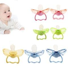 Flat Thumb Baby Orthodontic Pacifier Silicone Teat Nipple  Green flat head