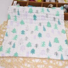 Six Layer Printed Square Cotton Towel Baby Saliva Towel  Christmas tree