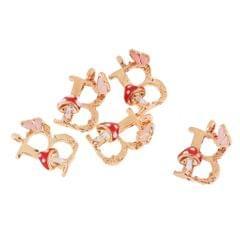 26 English Letters Alloy Pendant DIY Jewelry Bracelet Necklace Pendant Decor B