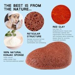 Konjac Cleaning Sponge Puff Exfoliating Facial Sponge for Deep Clean Red