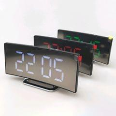 Ultra Large LED Display Screen Digital Mirror Alarm Clock  White