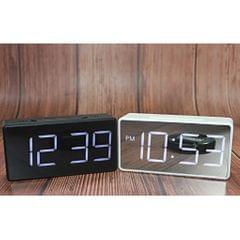 Led Digital Alarm Clock USB Port/Battery Operated Alarm Clocks Bedside White