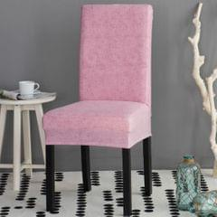 Universal Stretch Dining Room Chair Slipcover Stool Seat Cover  Pink
