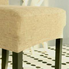 Universal Stretch Dining Room Chair Slipcover Stool Seat Cover  Khaki