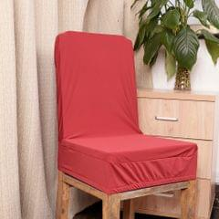 Spandex Stretch Low Short Back Chair Cover Bar Stool Cover Wine Red