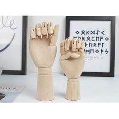 18cm Wooden Mannequin Hands Children Left Hands Model Sketching Drawing Hand